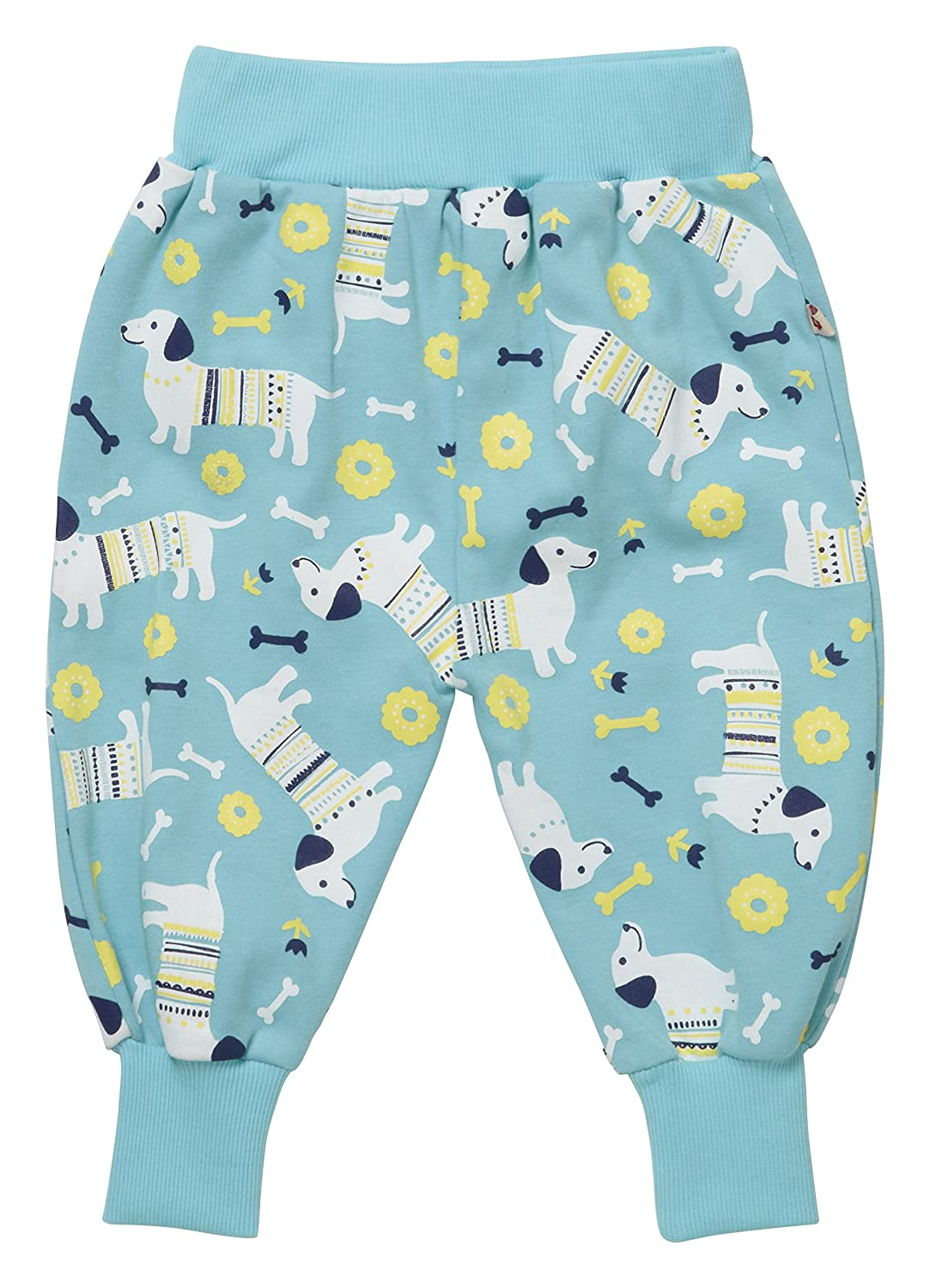 Piccalilly Organic Cotton Blue Girls Sausage Dog Print Trousers OC-1053A