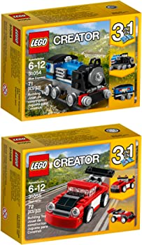 LEGO Creator Blue Express Red Racer 143-Pc. Building Kit Bundle