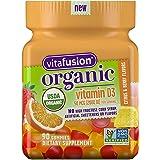 Vitafusion Organic D3 Gummy Vitamin, 90 Count - Non-GMO, Gluten-Free, Dairy-Free, No Gelatin, No HFCS