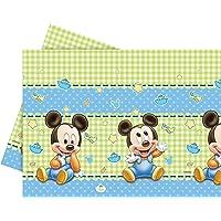 Unique Party 71987 - Mantel de plástico para bebé Mickey Mouse (1,8 x 1,2 m)
