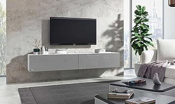 Wuun Tv Board Hängend 8 Größen 5 Farben 100cm Matt Weiß Grau