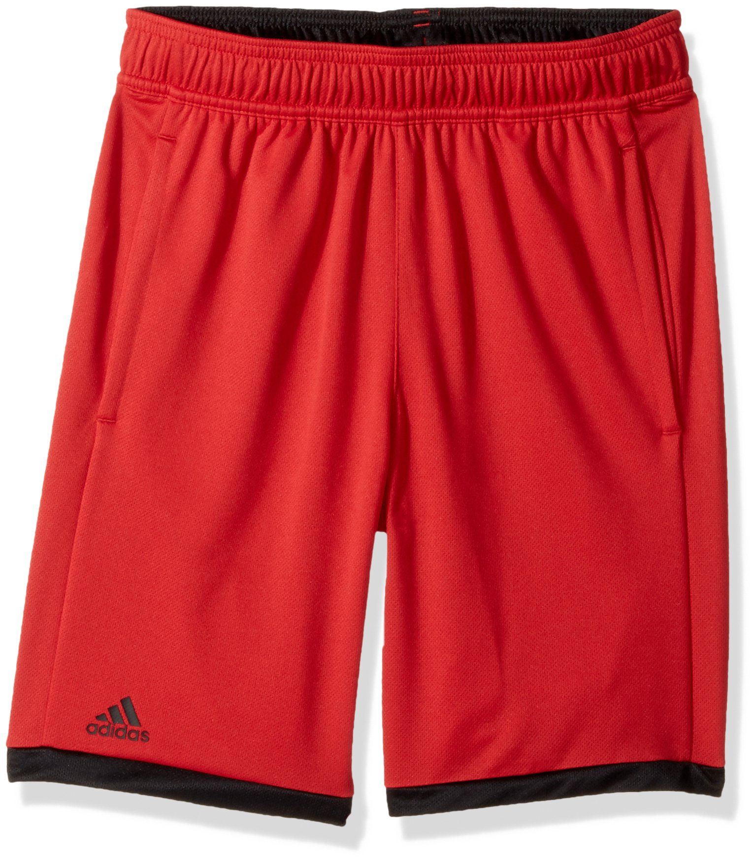 adidas Youth Boys Tennis Court Shorts, Scarlet/Black, X-Small
