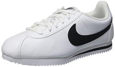 Nike Cortez (GS), Baskets Basses Mixte Enfant, Blanc (White/Black
