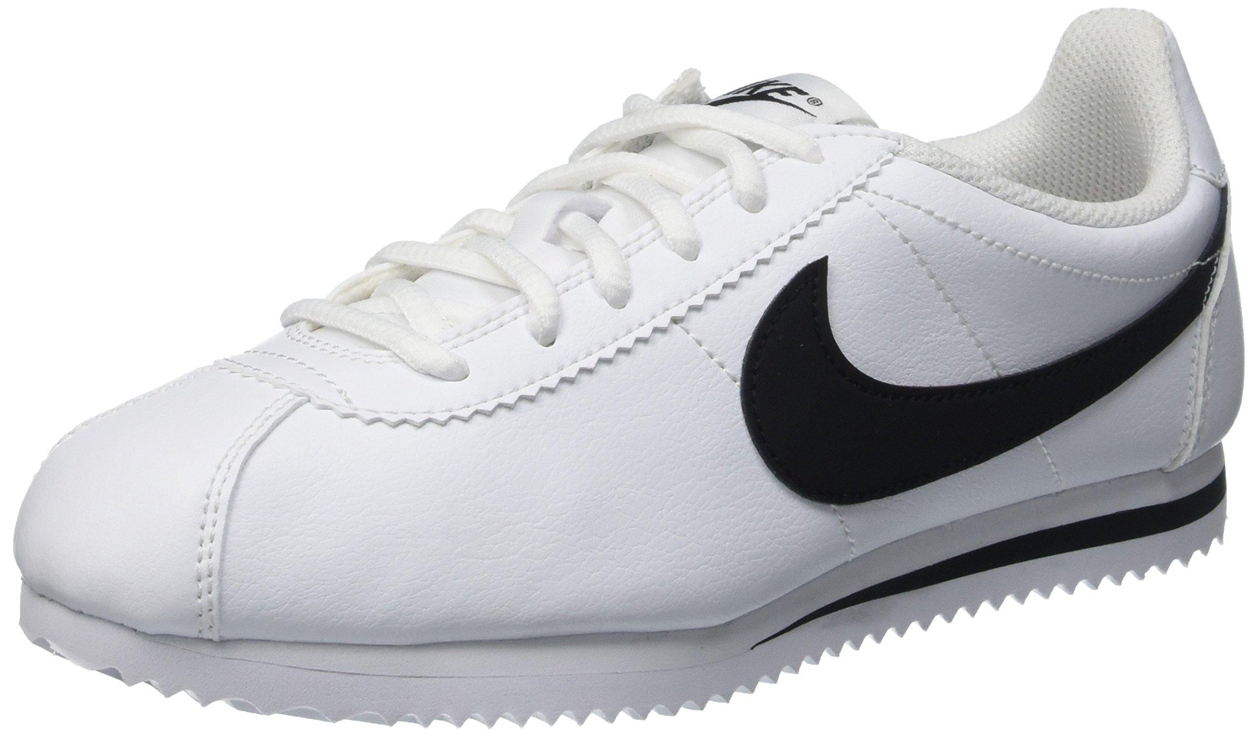 Nike Kids Cortez (GS) White/Black Casual Shoe 4.5 Kids US