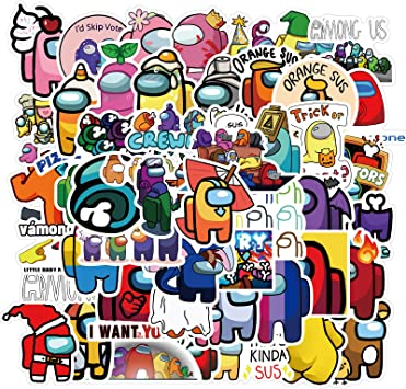 50pcs Adesivi Among Us Stickers Game Anime Stikers Skateboard Guitar Laptop Toy
