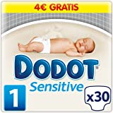 Dodot Sensitive - Paquete de 30 pañales para bebé con indicador de humedad