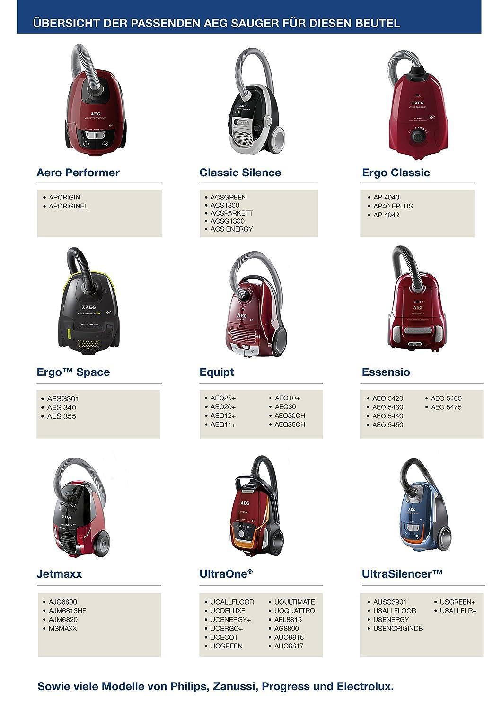 AEG S-bag Classic GR 200 5 unidades, S-bag Bolsas para aspiradora