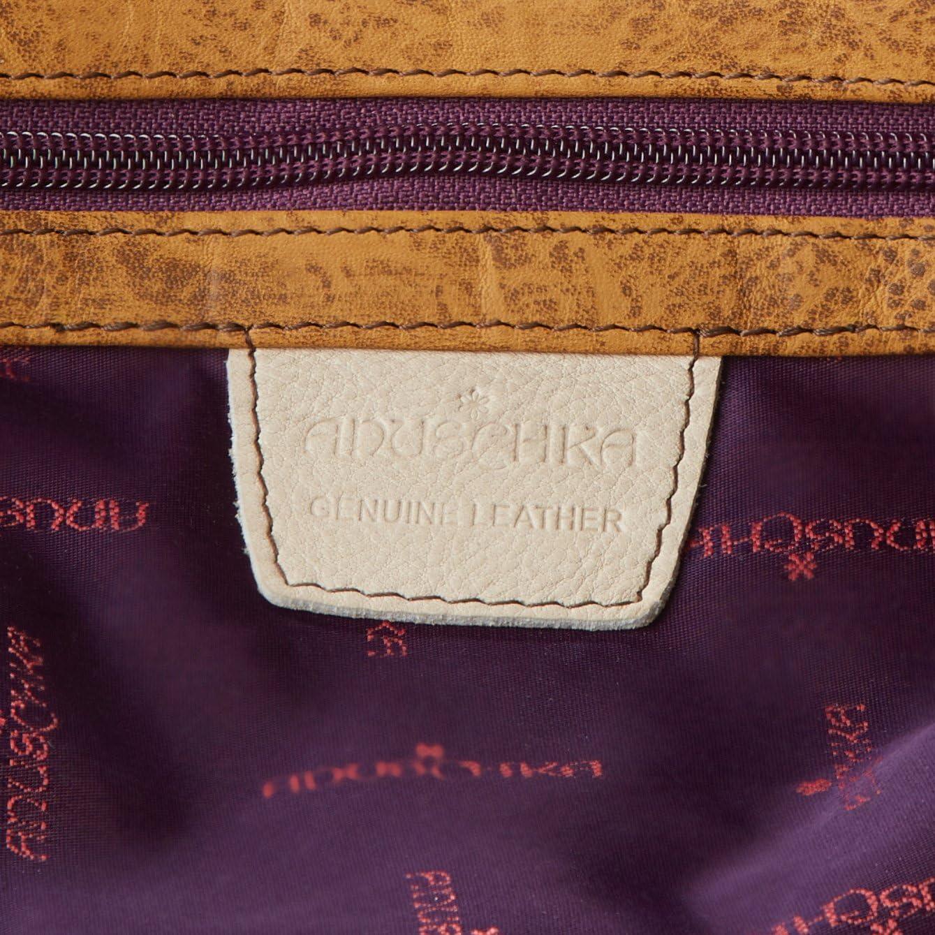 Top Zip Hobo//Shoulder Bag Anuschka Womens Genuine Leather Bag