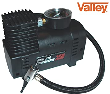 Amazon valley mini air compressor electric tire infaltor pump valley mini air compressor electric tire infaltor pump 12 volt car 12v sciox Images