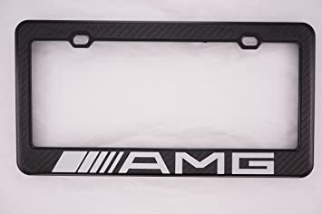 mercedes benz amg carbon fiber license plate frame