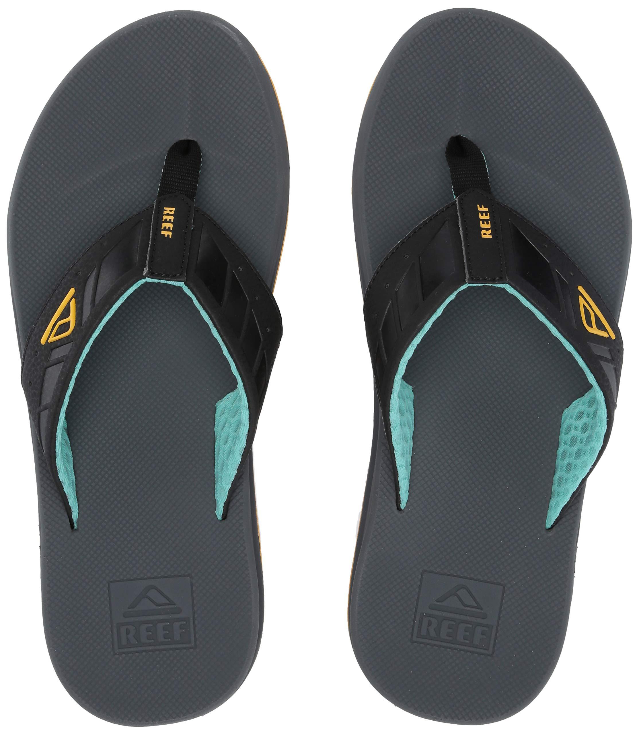 Reef Men's Phantoms Sandal, Aqua/Yellow, 130 M US
