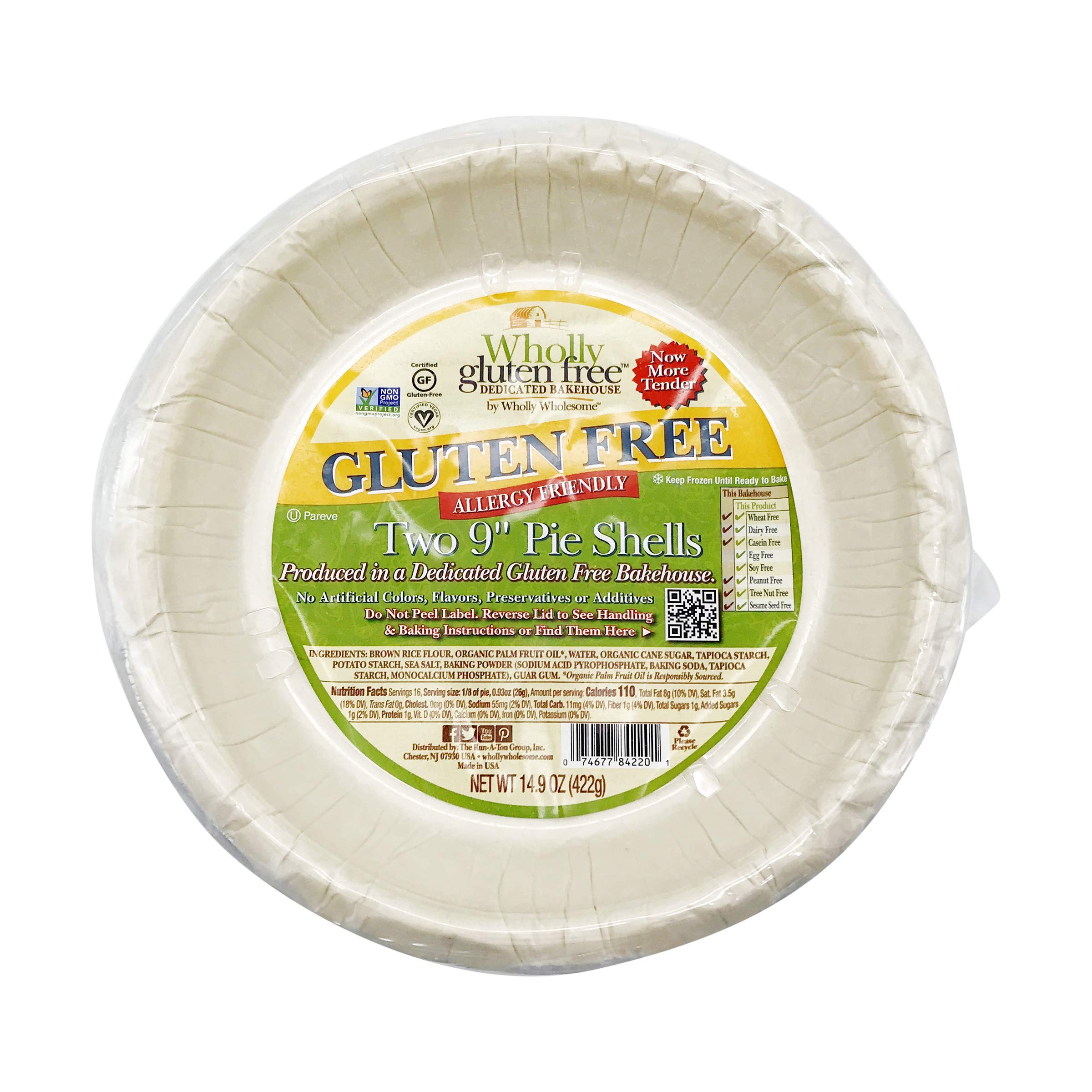 Wholly Wholesome Gluten Free 9'' Pie Shells (4 Pack)
