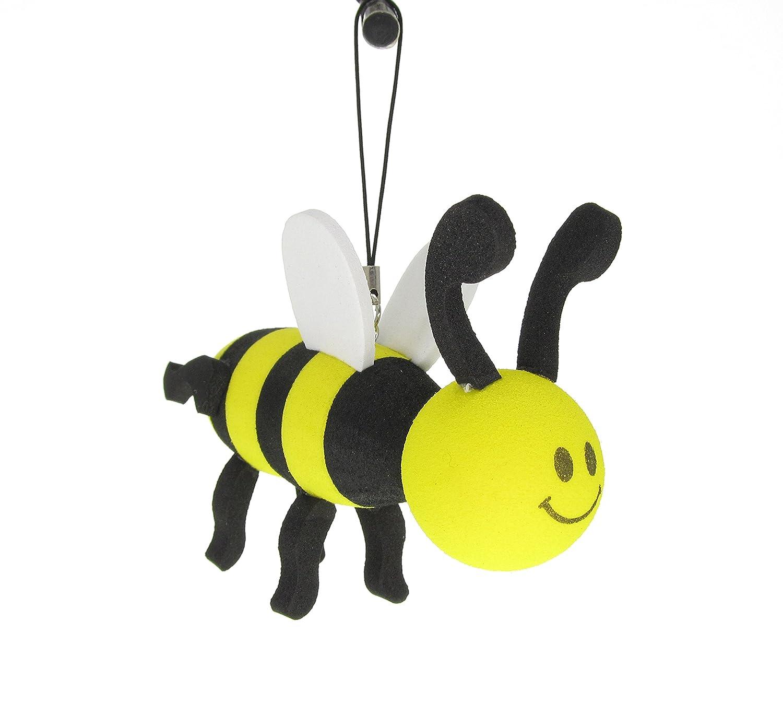 Yellow Pretty Bees Antenna Tops Car Antenna Topper Mirror Dangler Antenna Ball