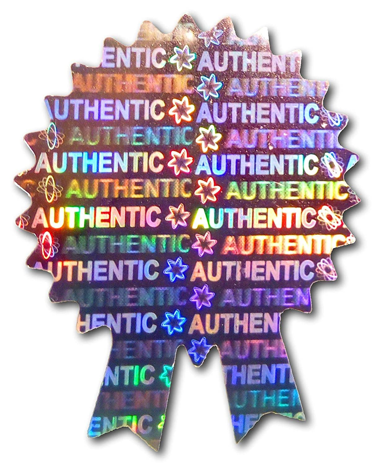 1.4 x 1.1 Secure Authentic Silver Warranty Labels AUTHENTIC Labels VOID 35mm x 28mm Genuine Valid Tamper-Evident Original Security 500x ROSETTE Certificate Hologram Stickers