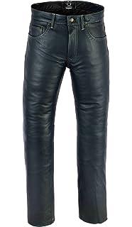 SHAMZEE Lederhose Leder Jeans Hose aus Nappa Leder echtleder in Schwarz  farbe 9a6457158c