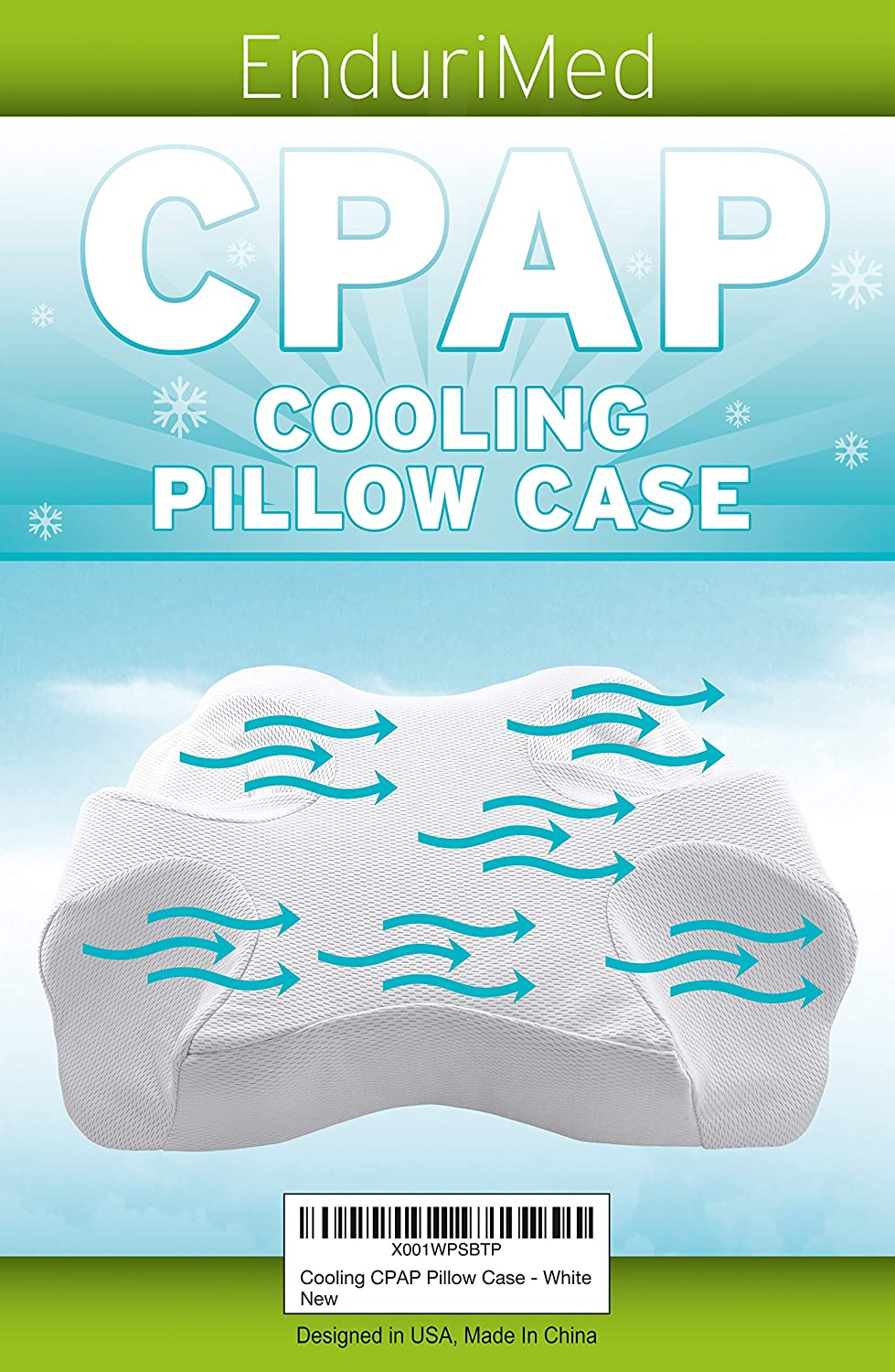 Pillow Case for Use with Endurimed CPAP Comfort Pillow - Cooling Fabric, White