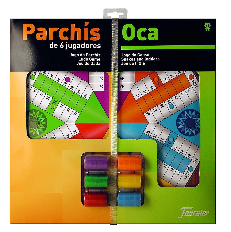 Fournier - Tablero Parchís/Oca y fichas, 40 x 40 cm, para 6 jugadores (F29468) Naipes Heraclio Fournier