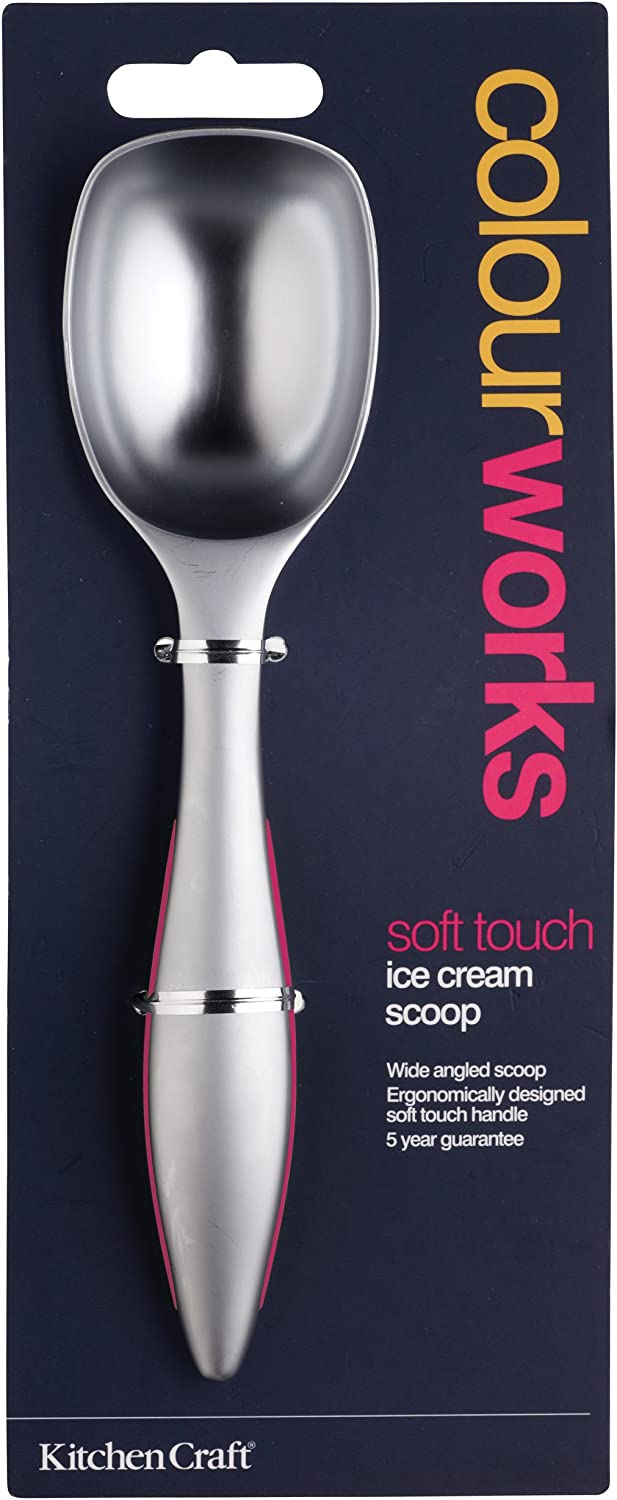Kitchen Craft Colourworks Hot Pink Ice Cream Scoop