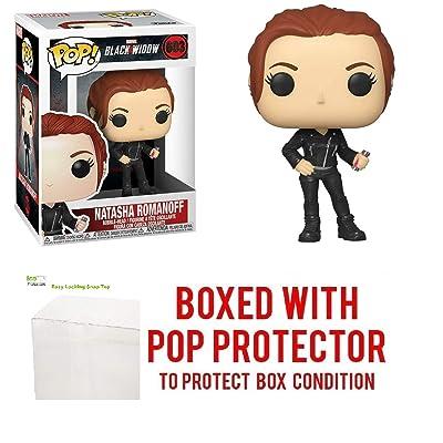 Natasha Romanoff #603 Pop Marvel: Black Widow Vinyl Figure (Bundled with EcoTEK Plastic Protector to Protect Display Box): Toys & Games