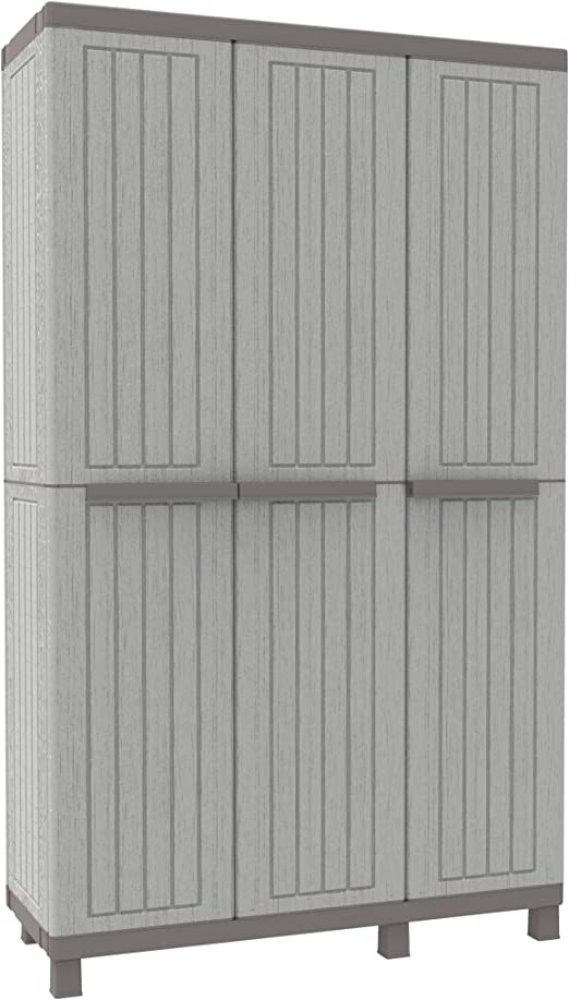 TERRY C-Wood 2680 Armadio Alto in Plastica Tuttopiani Grigio//Tortora 68 x 39 x 91,5 cm