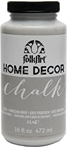 FolkArt 38730 Home Decor Chalk Furniture & Craft Paint in Assorted Colors, 16 ounce, Parisian Grey