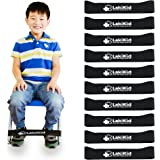 """Chair Bands for Kids with Fidgety Feet :: Fidget Bands for School Classroom Chairs, Ideal for ADHD, Autism, Hyperactivity :: 20"""" x 2"""" x 3/64"""", Affordable Alternative to Bouncy Bands"""