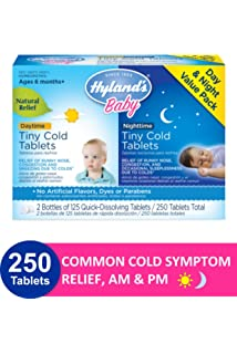 Amazon.com: Hylands Baby Tiny Cold Tablets, Natural Relief ...