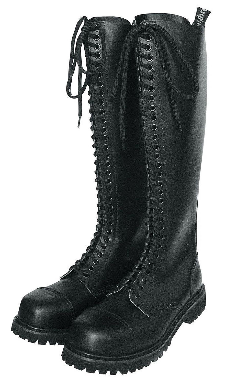 Knightsbridge 30-Loch Ranger Stiefel Schwarz mit Stahlkappe Größe Boots Steel Toe Gothicschuhe Größe Stahlkappe 37-47 f3ee89