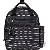 Skip Hop Diaper Bag Backpack with Matching Changing Pad, Riverside Ultra Light, Black Dot