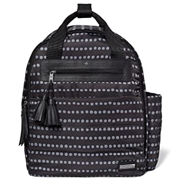 Amazon.com : Skip Hop Diaper Bag Backpack with Matching Changing Pad, Riverside Ultra Light, Black Dot : Baby