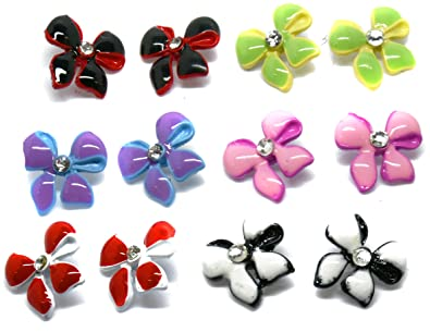 nose studs large colourful coloured index rings stud