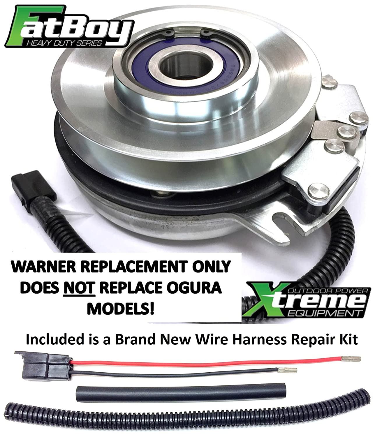 Xtreme Outdoor Power Equipment Bundle 2 Items Pto Fatboy Wiring Harness Replaces Scag 461395 Clutch High Torque W Wire Repair Kit Garden