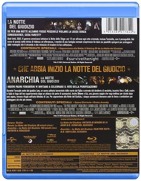 Anarchia - La Notte del Giudizio Collection 2 Blu-Ray Italia Blu-ray: Amazon.es: Carmen Ejogo, Zach Gilford, Frank Grillo, Ethan Hawke, Lena Headey, Kiele Sanchez, James DeMonaco, Carmen Ejogo, Zach Gilford: Cine y