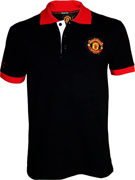 Manchester United Official Size Polo Shirt Mens Men Black Amazon Co Uk Sports Outdoors