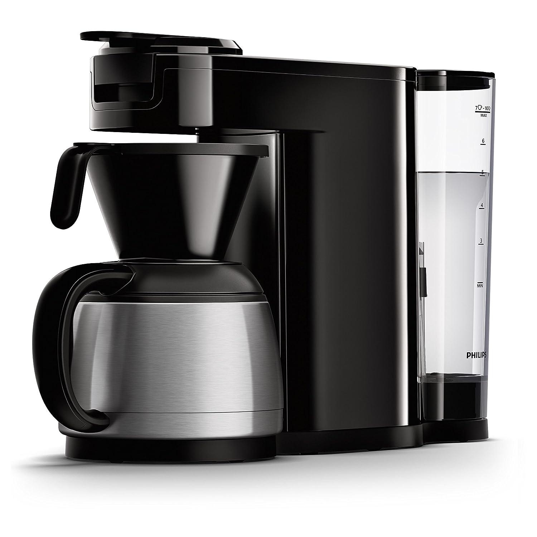 Senseo HD6592/61 - Cafetera (Independiente, Cafetera de filtro, 1 L, Dosis de café, De café molido, 1450 W, Negro, Acero inoxidable): Amazon.es: Hogar