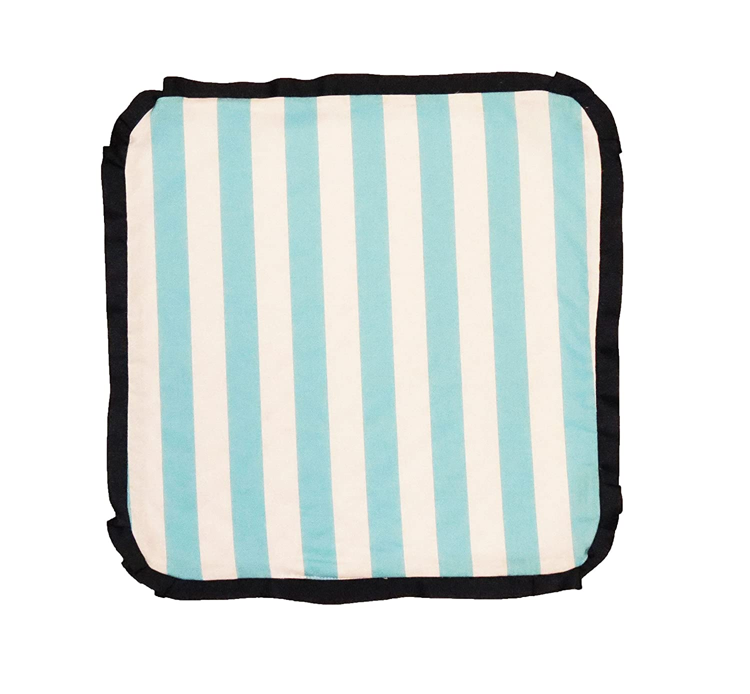 Caught Ya Lookin' Baby Thumb Blanket, Boys Blue and White Striped by Caught Ya Lookin'   B00KYP5GZA
