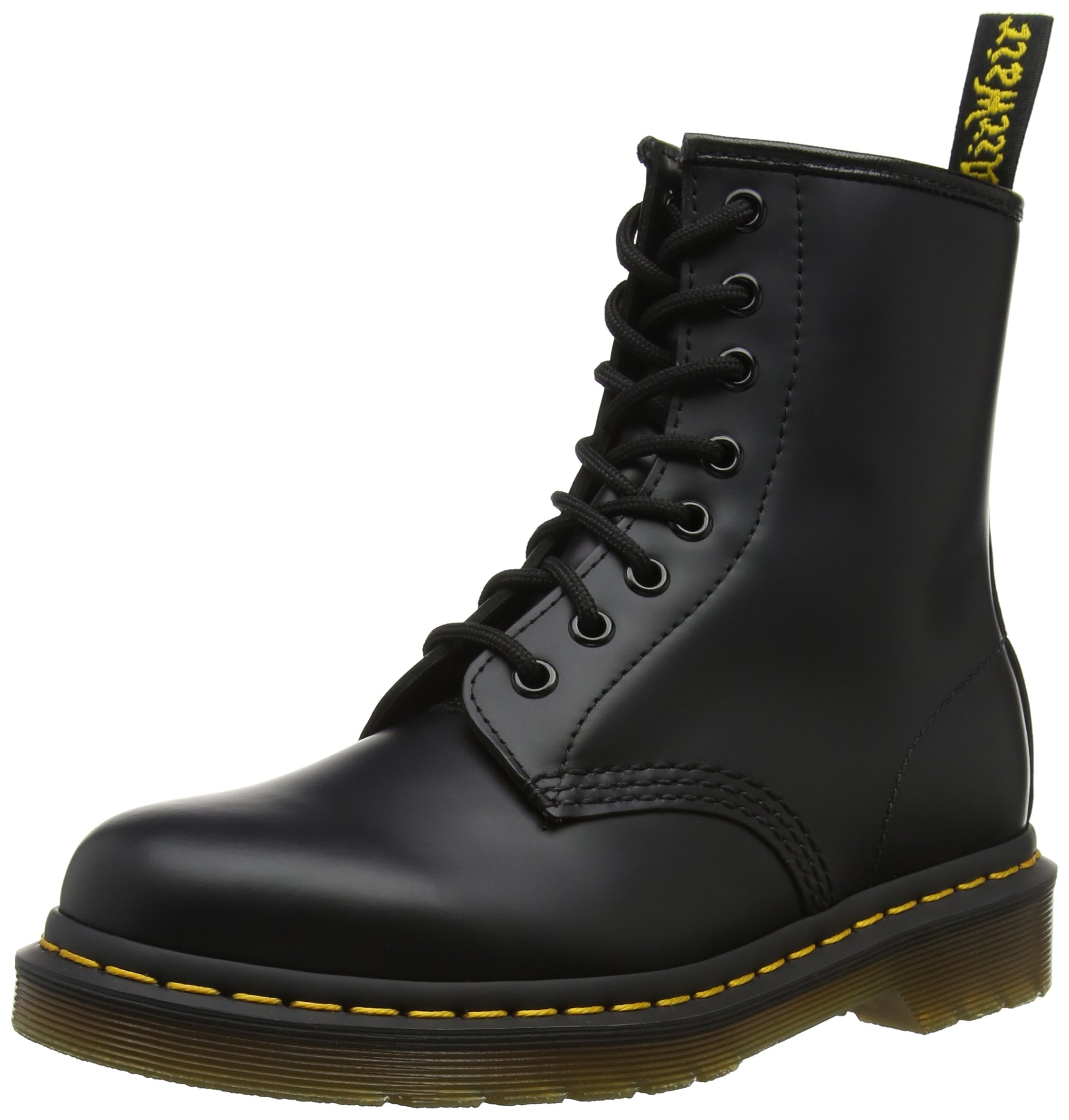 Dr. Martens 1460 Originals 8 Eye Lace Up Boot, Black Smooth Leather, 7UK/8 US Mens/9 US Womens, 41 EU by Dr. Martens
