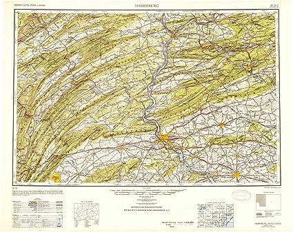 Amazon.com : YellowMaps Harrisburg PA topo map, 1:250000 Scale, 1 X ...