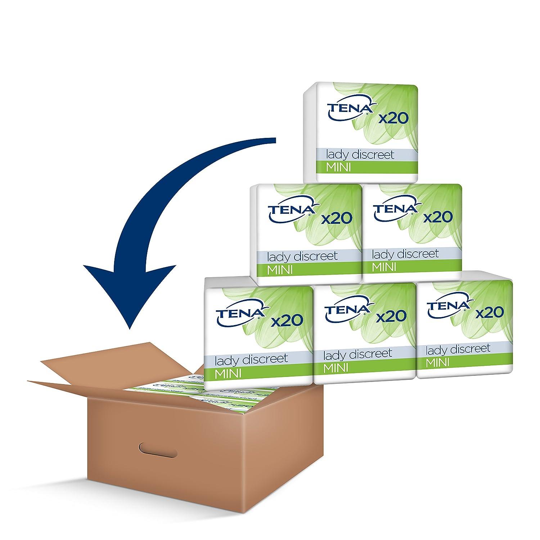 6 Packungen je 20 Einlagen Monats-Paket mit 120 Einlagen 7322540892635 Tena Lady Discreet Mini