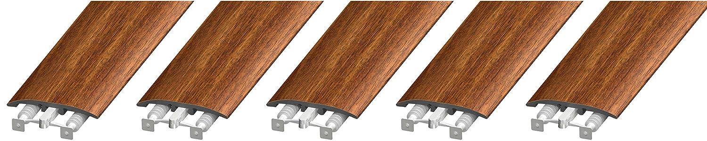 Walnut CalFlor MD10045 3-in1 UniTrim 2 Wide x 94 Long 3-in-1 Waterproof Floor Molding for Laminate WPC LVT /& Vinyl 5 Pack 5 Piece