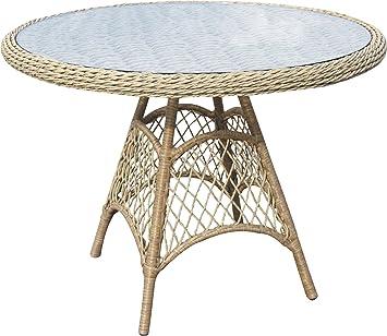 Ambientehome 63775 Dakar Table Ø env. 100 cm Rond en ...