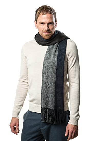 7d96b1d90 Mens Scarf, Knit Striped Scarf, Winter Fashion Scarf In An Elegant Gift Box  at Amazon Men's Clothing store: