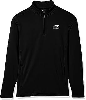 Skechers Men's Long Sleeve Sport Top, Ribbon Print Black, XX-Large