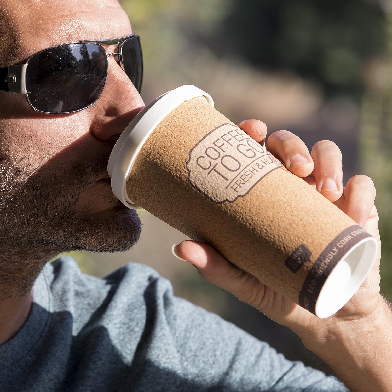 Eco Travel Mug Insulated Thermos 16 Oz ... Reusable Coffee Cup Corky Cup