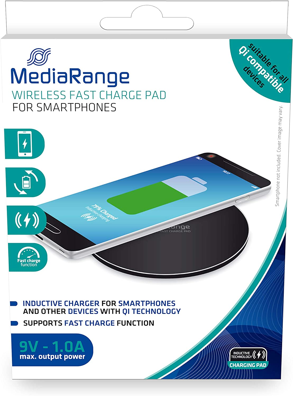 MediaRange Cargador Inalambrico Smartphones Compatible Carga ...