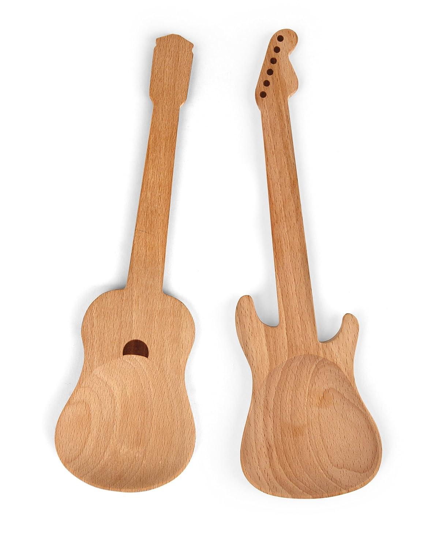 Kikkerland Rockin Wooden Spoons, Set of 2 CU64