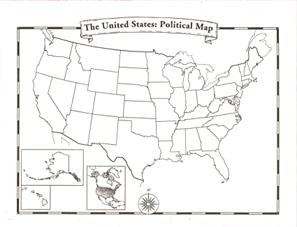 Amazon.com : Blank U.S.A. Map : Decorative Paper : Office Products