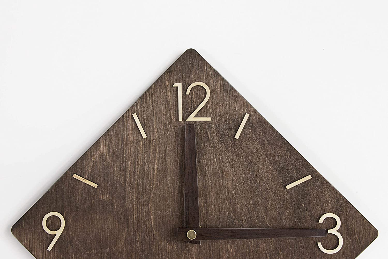 Wall Clock Wood Clock Wall Rustic Wall Clock Wooden Clock Wall Clocks Wood Wood Clock Newlyweds Gift Modern Clock Wood Clock Modern