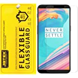 Red Qube Hammer Proof Fiber Tempered Screen Protector with Oleophobic Coating for OnePlus 5T