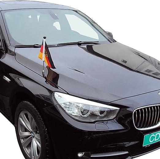 Soporte de Bandera para Coche Diplomat-Z Alemania con Escudo Oficial: Amazon.es: Jardín